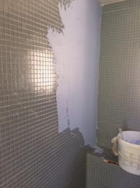 Rénovation complète d'une douche à l'italienne en béton ciré à Marseille